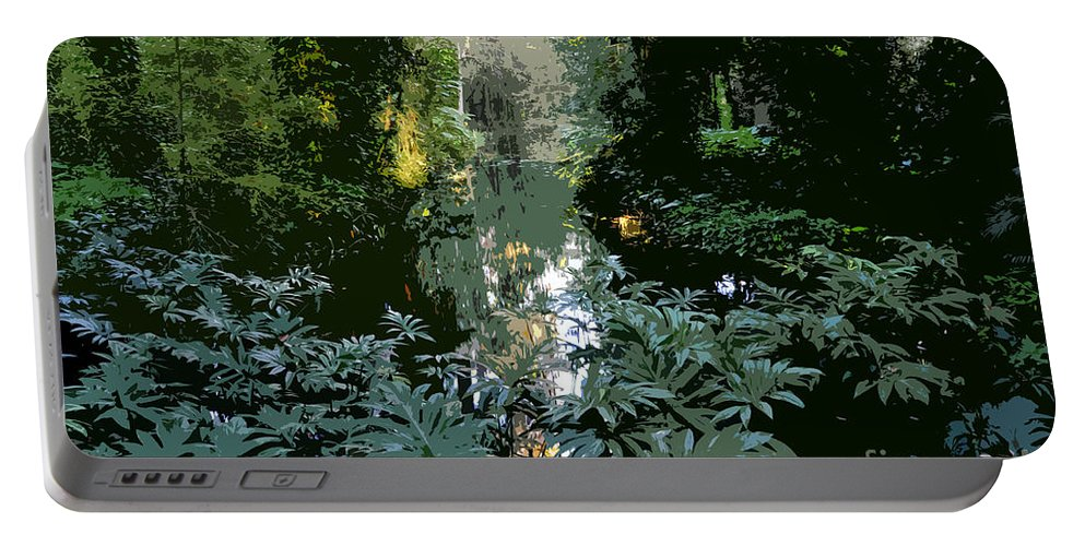 Spring Portable Battery Charger featuring the painting Eureka Springs by David Lee Thompson