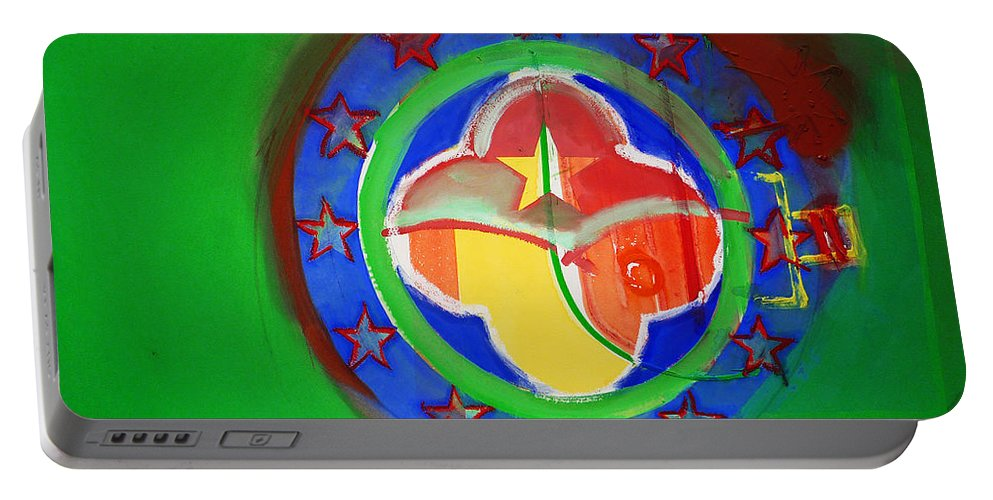 Symbol Portable Battery Charger featuring the painting Euromarine by Charles Stuart