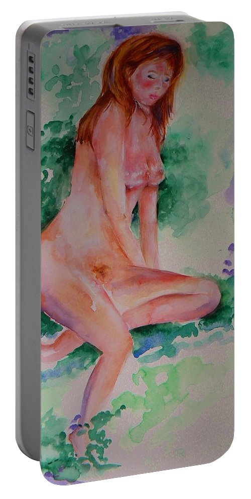 Eve Portable Battery Charger featuring the painting Eve by Sandy Ryan