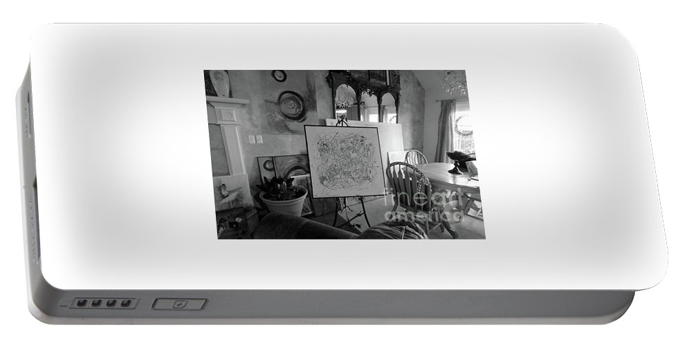 Room Portable Battery Charger featuring the photograph Even Without Color by Lisa Kaiser