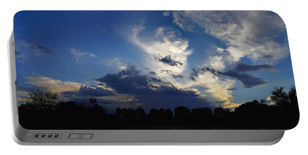 Landscape Portable Battery Charger featuring the photograph Evening At The Nature Center by Steve Karol