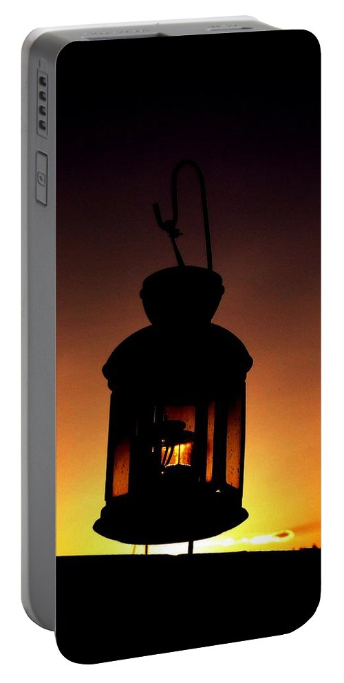 Lantern Portable Battery Charger featuring the photograph Evening Lantern by Tim Allen