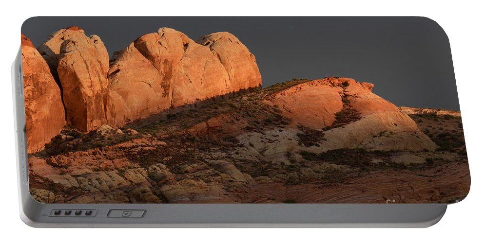 Nevada Portable Battery Charger featuring the photograph Evening Light by Bob Christopher