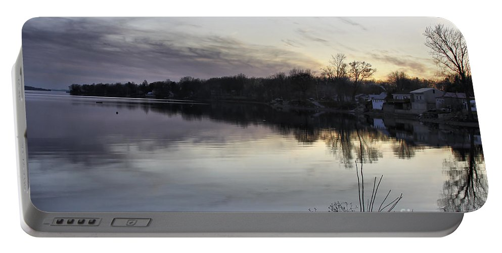 Lake Champlain Portable Battery Charger featuring the photograph Evening Light On Lake Champlain by Deborah Benoit