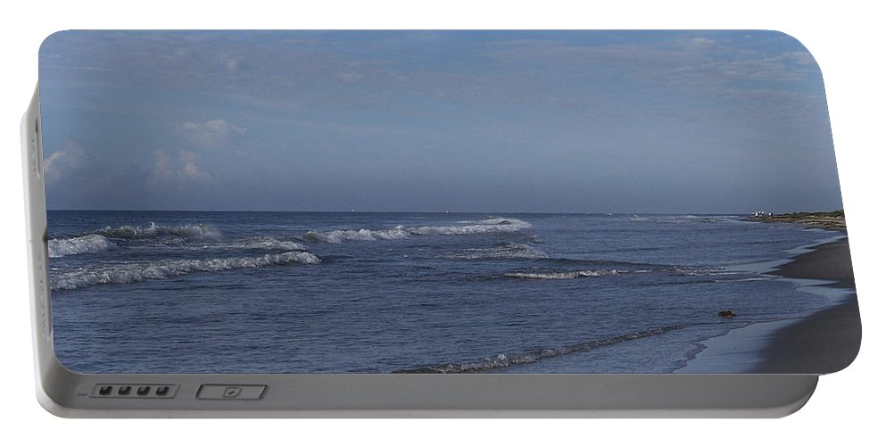 Ocean Portable Battery Charger featuring the photograph Evening On The Beach by Teresa Mucha