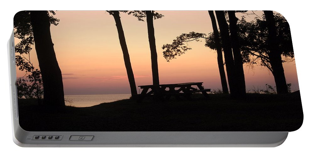 Landscape Portable Battery Charger featuring the photograph Evening Picnic by Michael Peychich