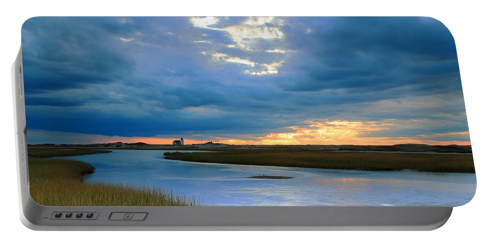 Provincetown Portable Battery Charger featuring the photograph Evening Sky Over Hatches Harbor, Provincetown by Roupen Baker