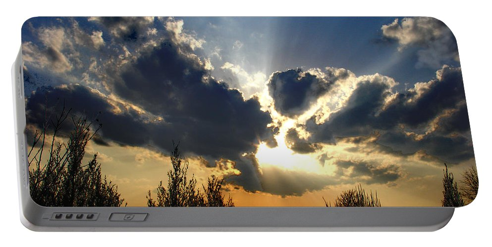 Landscape Portable Battery Charger featuring the photograph Evening Sky by Steve Karol