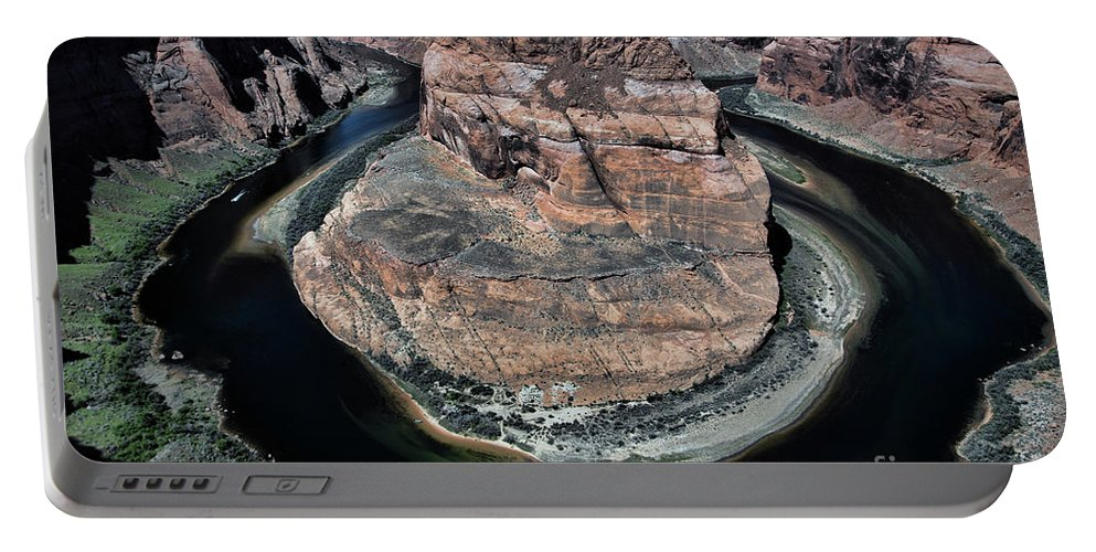 Horseshoe Bend Portable Battery Charger featuring the photograph Evening Tones Horseshoe Bend Arizona Landscape by Chuck Kuhn