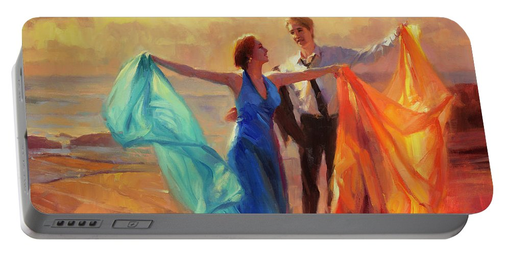 Romance Portable Battery Charger featuring the painting Evening Waltz by Steve Henderson