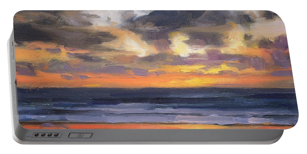 Coast Portable Battery Charger featuring the painting Eventide by Steve Henderson