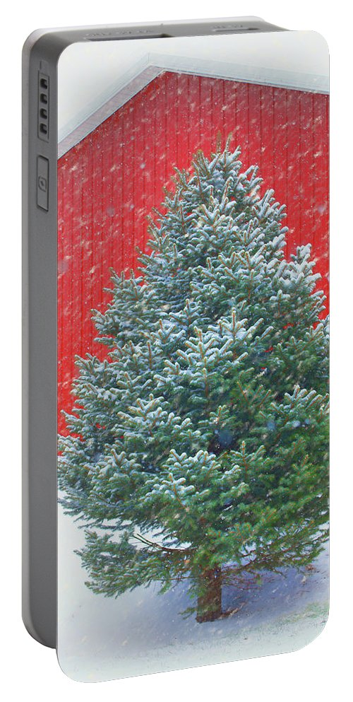Winter Portable Battery Charger featuring the photograph Evergreen In Winter #1 by Nikolyn McDonald