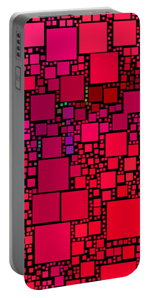 Squares Portable Battery Charger featuring the digital art Everywhere Square 30 by Chris Butler