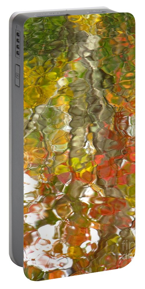 Water Art Portable Battery Charger featuring the photograph Evidence Of Joy - Feel by Sybil Staples