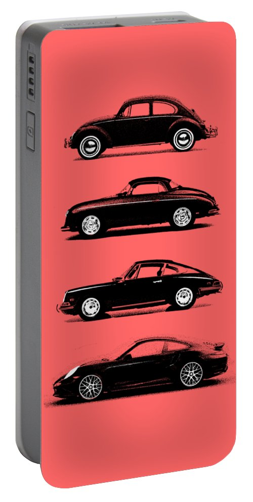 Porsche Portable Battery Charger featuring the photograph Evolution by Mark Rogan