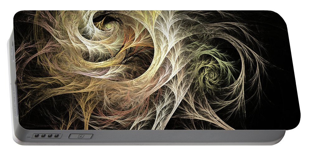 Modern Portable Battery Charger featuring the digital art Evolve Fractal by Archetypus Deed