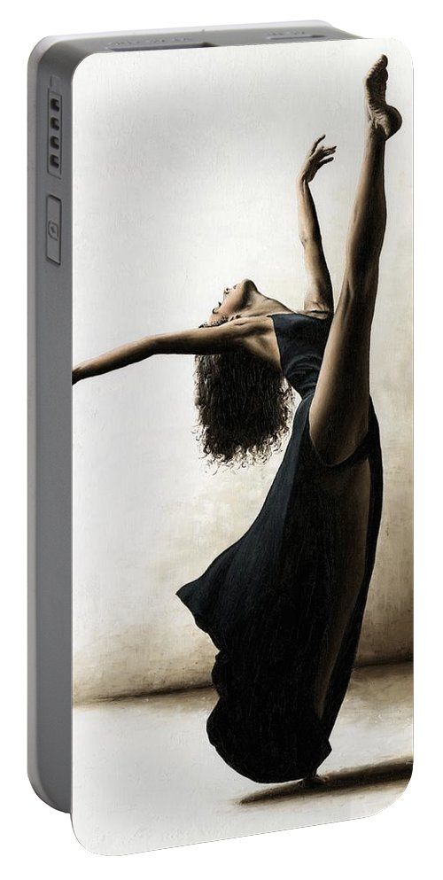Dance Portable Battery Charger featuring the painting Exclusivity by Richard Young