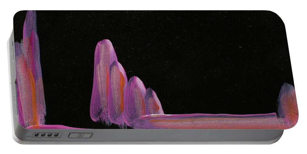 Abstract Landscape Portable Battery Charger featuring the painting Expectation by Kathleen Sandoval