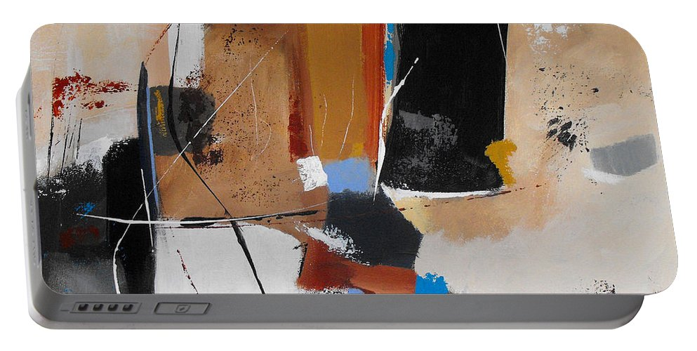 Abstract Portable Battery Charger featuring the painting Expectations by Ruth Palmer