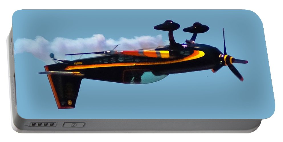 300s Portable Battery Charger featuring the digital art Extra 300s Stunt Plane by DigiArt Diaries by Vicky B Fuller