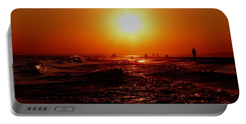 Beach Portable Battery Charger featuring the photograph Extreme Blazing Sun by Kendall Eutemey