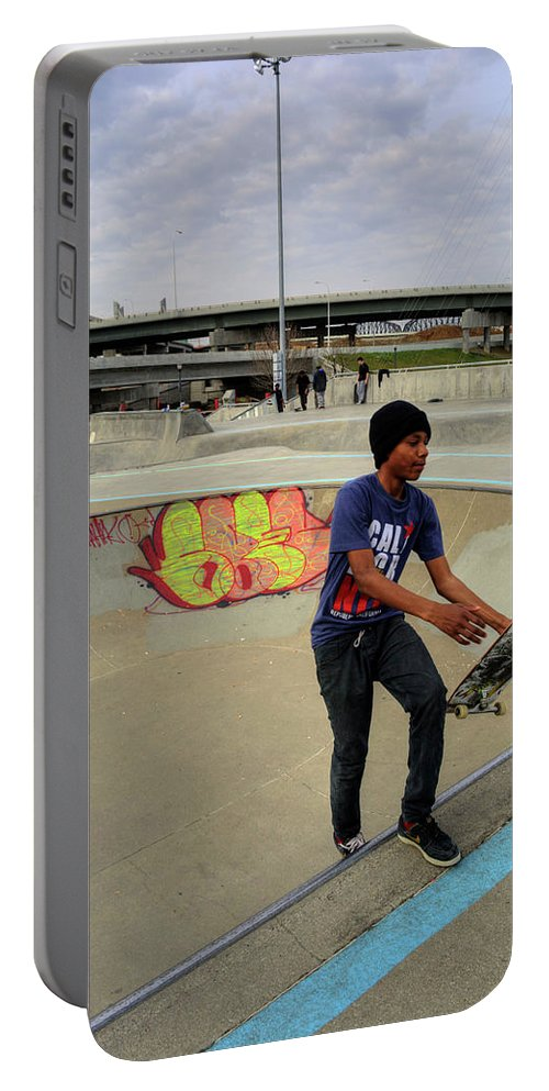 Royal Portable Battery Charger featuring the photograph Extreme Skate Park by FineArtRoyal Joshua Mimbs