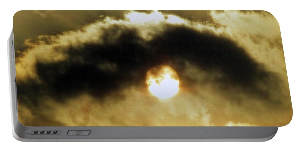 Eye Of Heaven Portable Battery Charger featuring the photograph Eye Of Heaven by Bassem ART