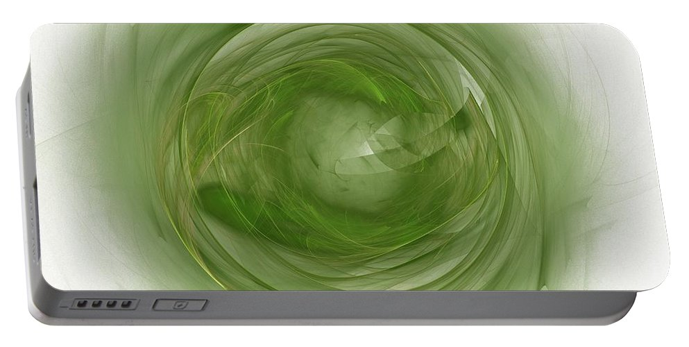 Eye Portable Battery Charger featuring the digital art Eye Of Nature by Steve K