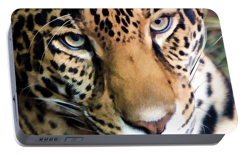 Leopard Portable Battery Charger featuring the photograph Eye Of The Leopard by Athena Mckinzie