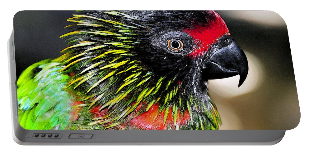 Bird Portable Battery Charger featuring the painting Eye Of The Tropics by David Lee Thompson