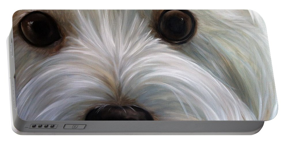 Art Portable Battery Charger featuring the painting Eye See You Too by Mary Sparrow