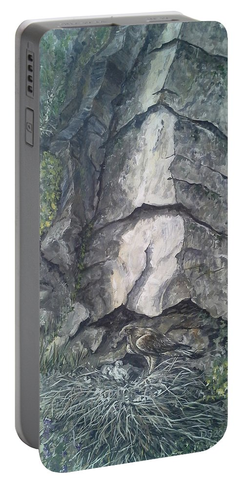 Eagle Portable Battery Charger featuring the painting Eyrie by Duncan Sawyer