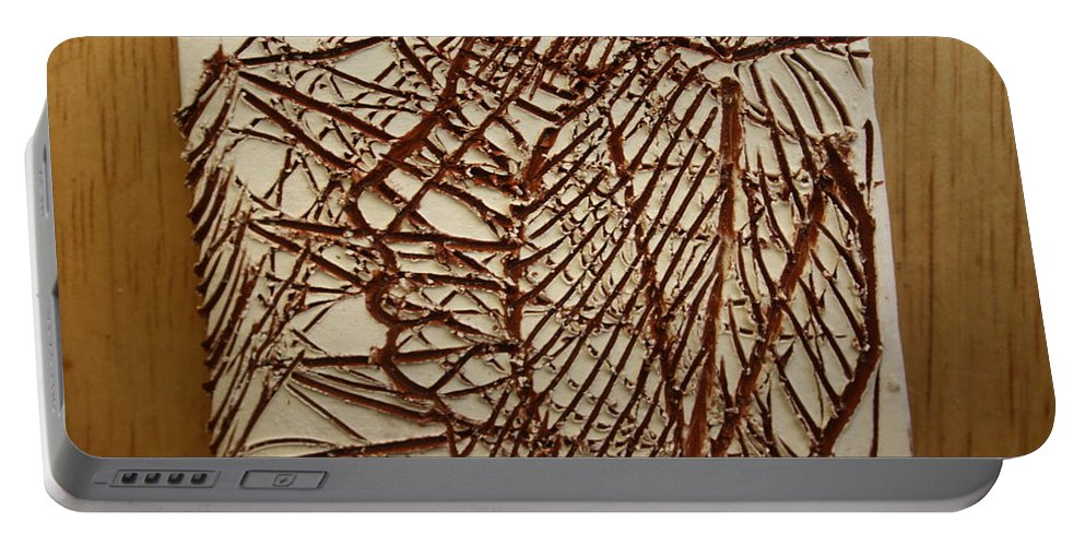 Jesus Portable Battery Charger featuring the ceramic art Ezra - Tile by Gloria Ssali