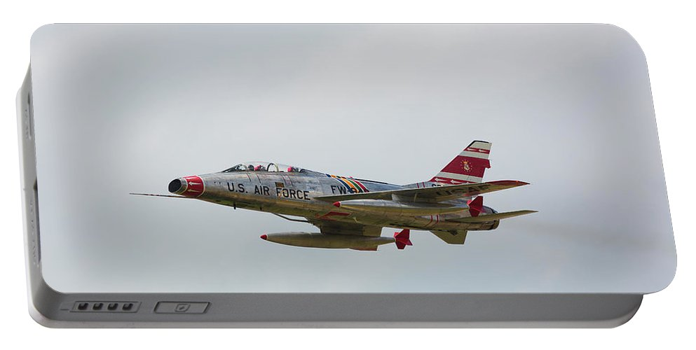 F-100 Portable Battery Charger featuring the photograph F-100 Super Sabre by Bruce Beck