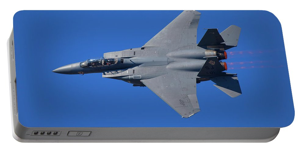 F-15 Eagle Portable Battery Charger featuring the photograph F-15 Eagle by Bruce Beck