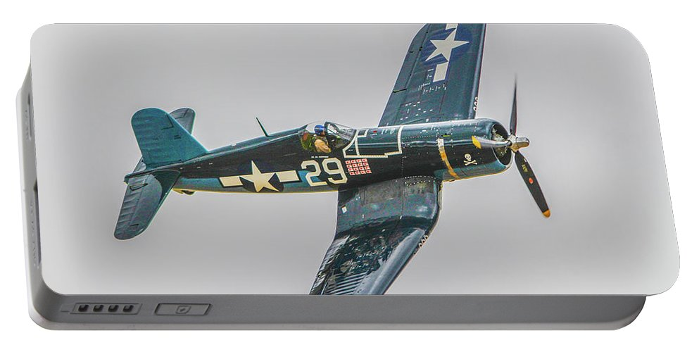 Chance Vought F-4u Corsair Portable Battery Charger featuring the photograph F-4u Corsair by Tommy Anderson