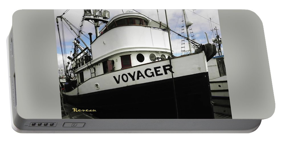 Ships Portable Battery Charger featuring the photograph F V Voyager by Sadie Reneau