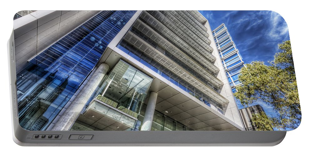 Facade Portable Battery Charger featuring the photograph Facadism by Wayne Sherriff