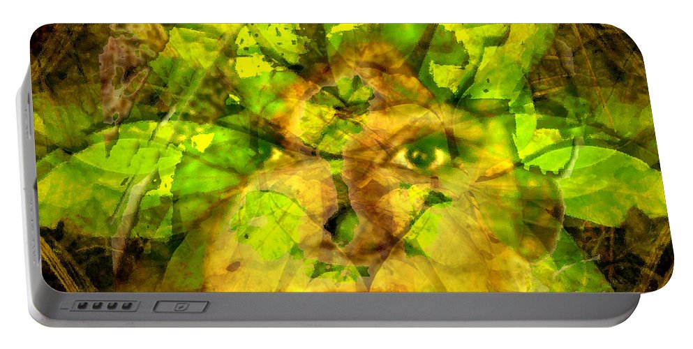 Fall Portable Battery Charger featuring the digital art Face of Fall by Seth Weaver