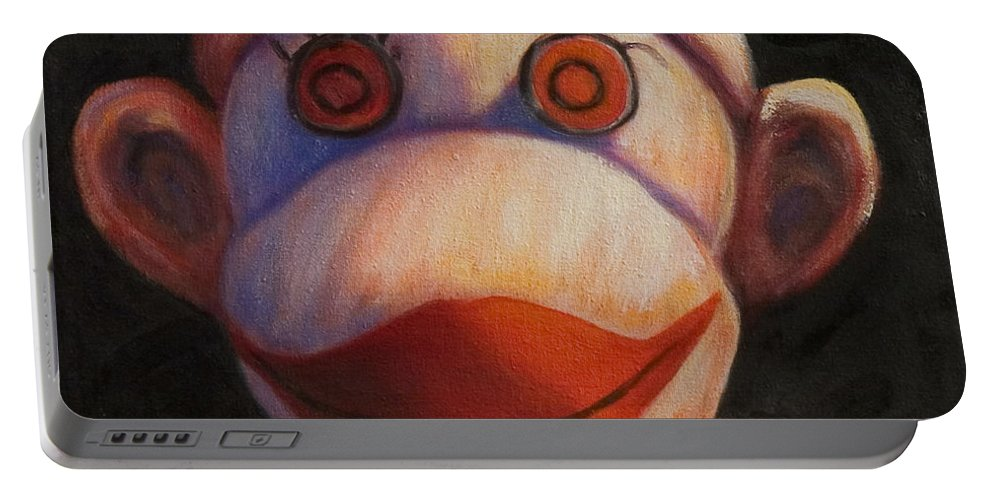 Children Portable Battery Charger featuring the painting Face by Shannon Grissom