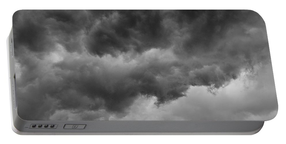 Clouds Portable Battery Charger featuring the photograph Faces In The Mist Of Chaos by ChelleAnne Paradis