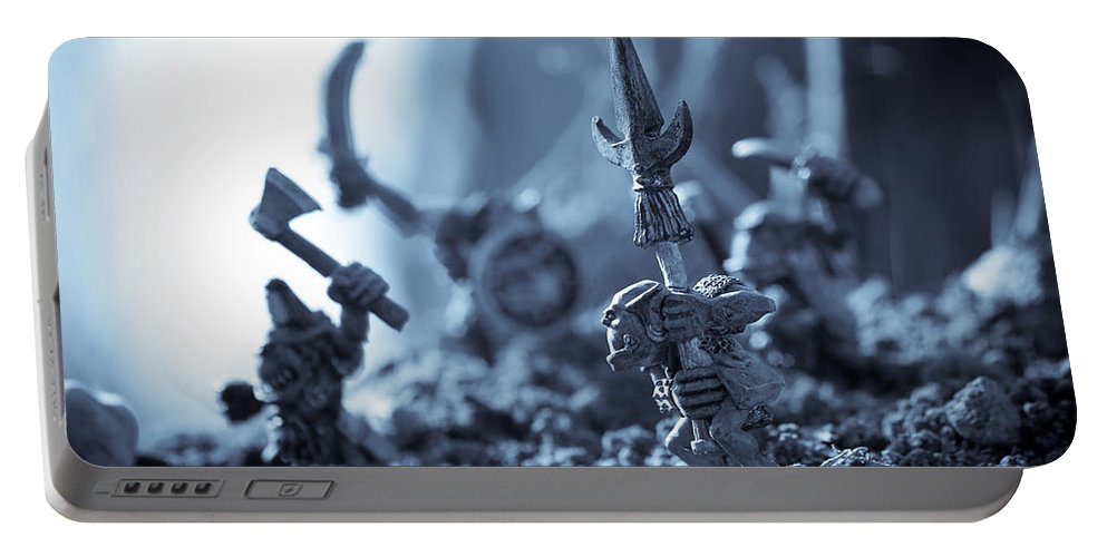 Fantasy Portable Battery Charger featuring the photograph Facing The Enemy by Marc Garrido