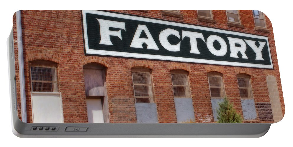 Factory Portable Battery Charger featuring the photograph Factory by Nikolyn McDonald
