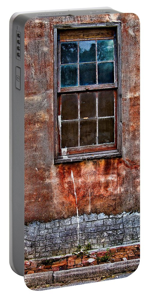 Window Portable Battery Charger featuring the photograph Faded Over Time by Christopher Holmes