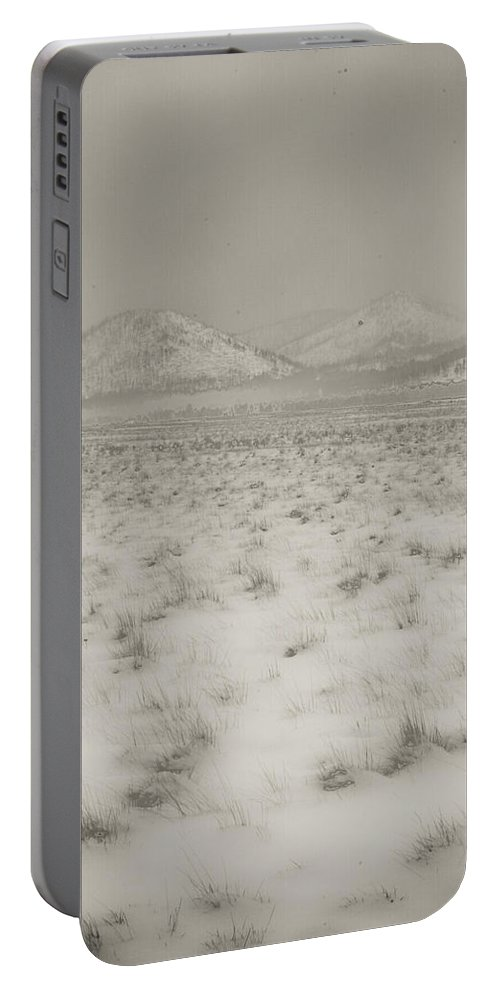Winter Portable Battery Charger featuring the photograph Faded Storm by Scott Sawyer