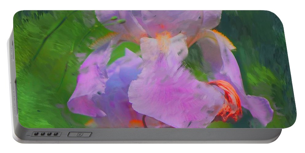 Iris Portable Battery Charger featuring the painting Fading Glory by David Lane