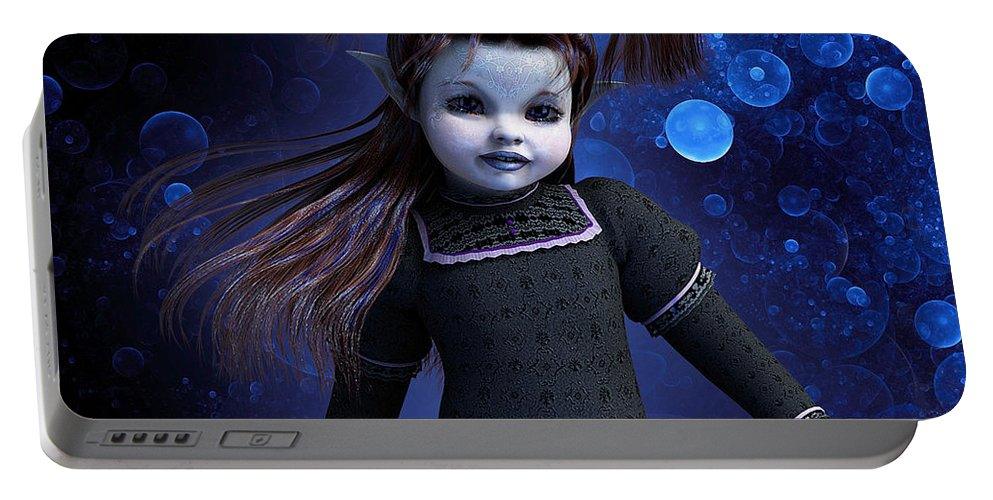3d Portable Battery Charger featuring the digital art Faerie Child by Jutta Maria Pusl