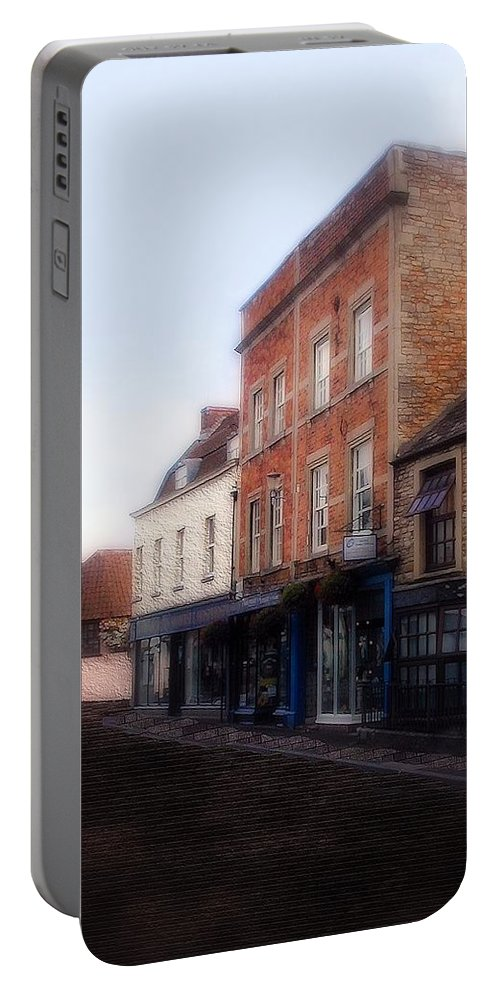 Buildings Portable Battery Charger featuring the painting Fair Day Dawning by RC DeWinter