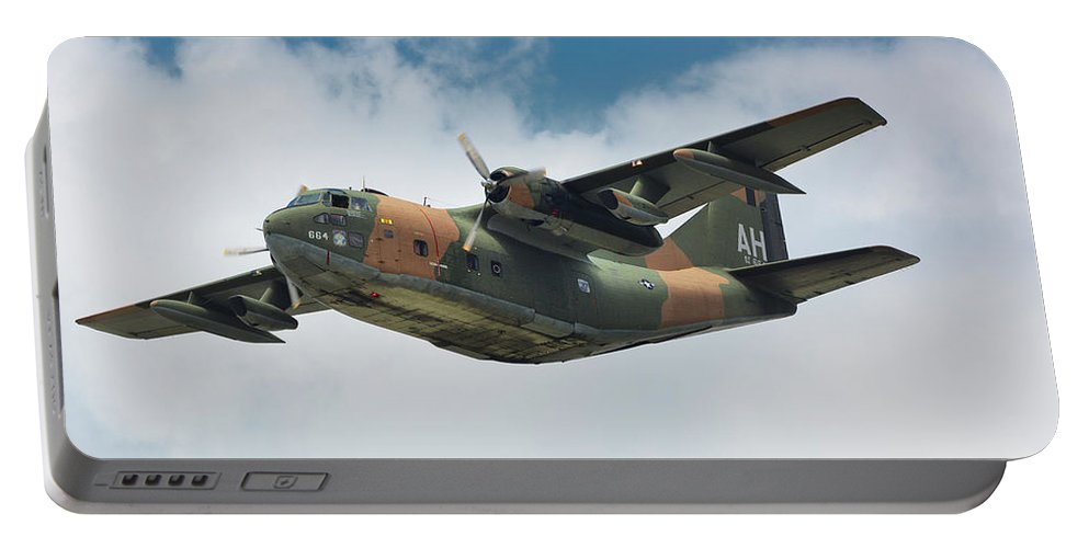 Fairchild C-123 Provider Portable Battery Charger featuring the photograph Fairchild C-123 Provider by Bruce Beck