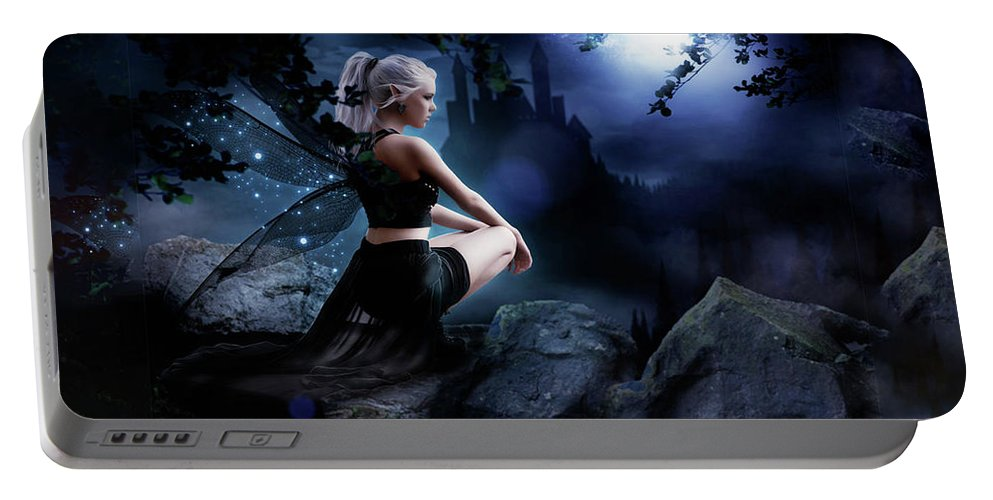 Fairy Portable Battery Charger featuring the digital art Fairy by Ingenuity Design